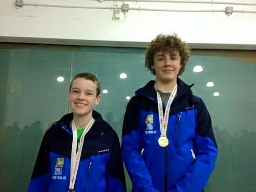 Tom and Cameron at the Ski and Boarder Cross Championships 2015