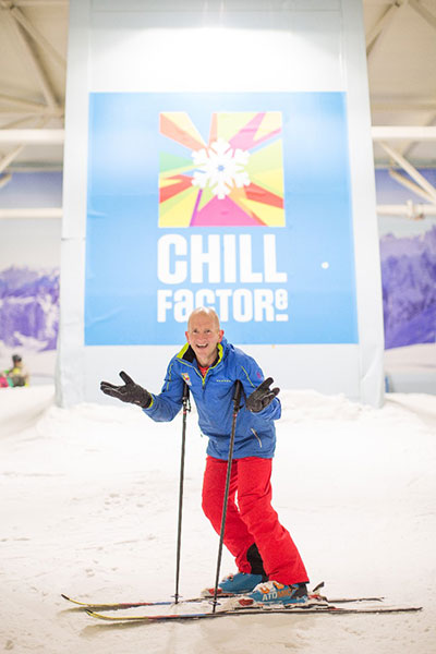 Eddie The Eagle Pays a Visit to Chill Factore