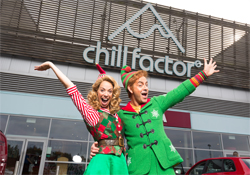 Stars of Elf The Musical Spotted at Chill Factore