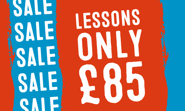 All Lessons and courses just £85!