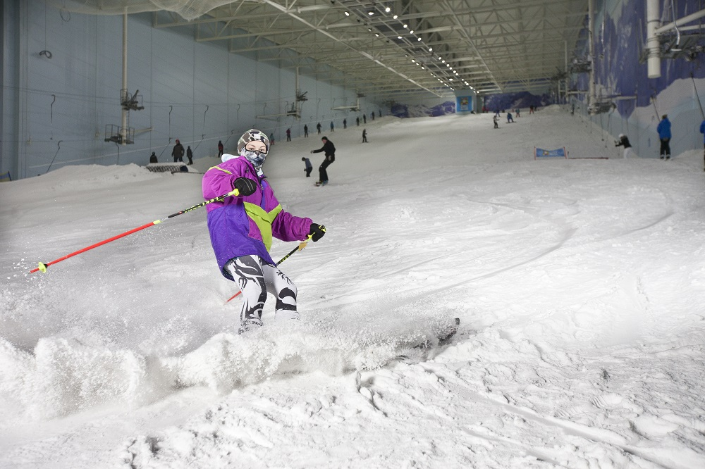 Why is summer the perfect time to head to an indoor snow centre?