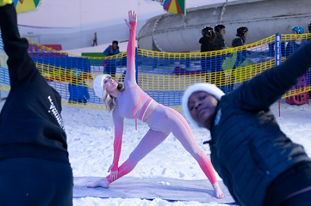 Snow-ga: The UK's coolest new workout!