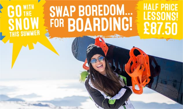 Snowboard Lessons for £87.50!