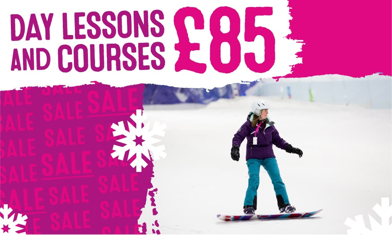 £85 SALE on Snowboard Lessons!