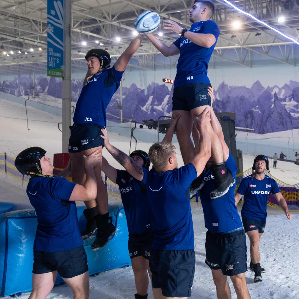 Sale Sharks experience some pre-season training with a difference!